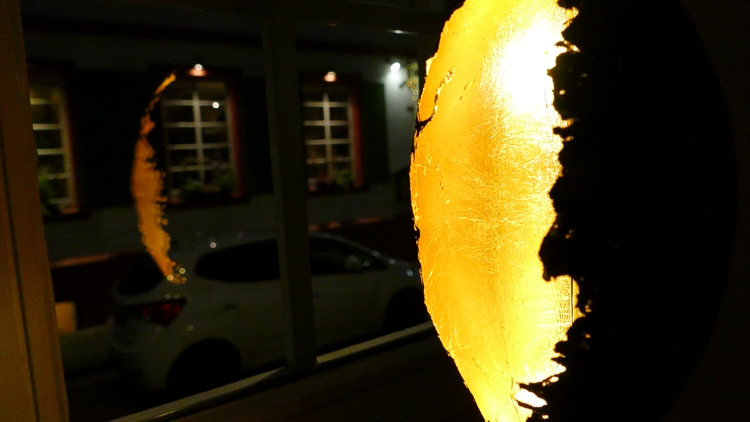 tapisserie landau lampe licht gold